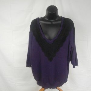 Lane Bryant Womens Size 14/16 Purple And Black Top